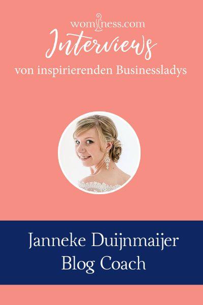 Interview mit Janneke Duijnmaijer - Blog Coach